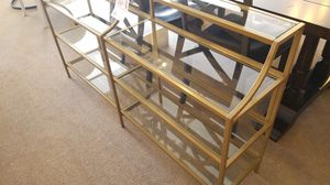 Glass and Gold Metal Display Shelves for Sale in Glendale, AZ