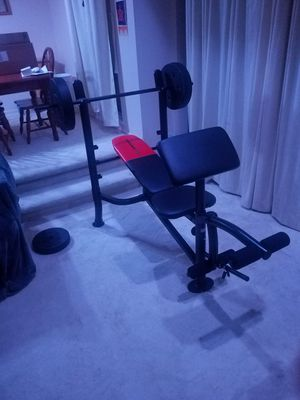 Weider Pro 265 Standard Weight Bench and Weight Combo Pack for Sale in Silver Spring, MD