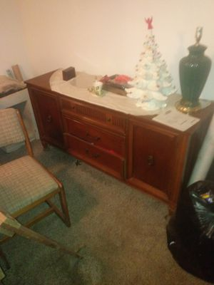 Dining room furniture table 6 chairs china closet buffet for Sale in Mannington, WV
