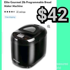 NEW Elite Gourmet 2lb Programmable Bread Maker Machine: njft hsewres appliances for Sale in Burlington, NJ