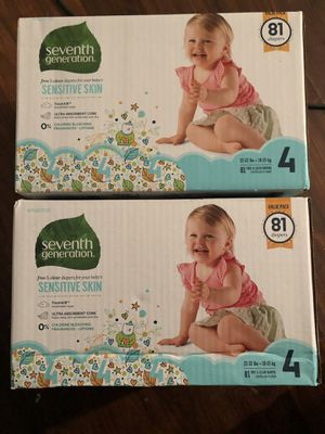 Seventh generation diapers for Sale in Hazel Crest, IL