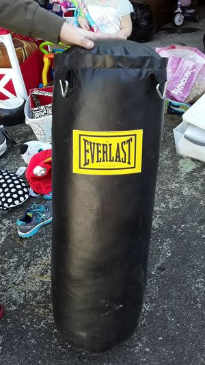 Everlast 100lb punching bag for Sale in Randolph, MA