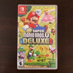New Super Mario Bros U Deluxe For Nintendo Switch for Sale in Seattle,  WA