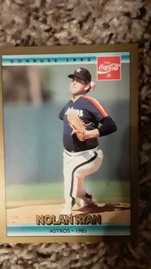 Nolan Ryan Baseball Card Astros 1985 for Sale in Fort Worth, TX