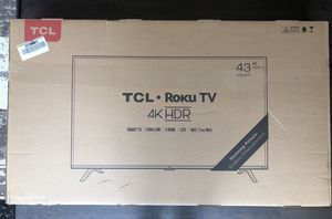 TCL Roku 43'' 4K Smart TV HDR for Sale in Seattle, WA