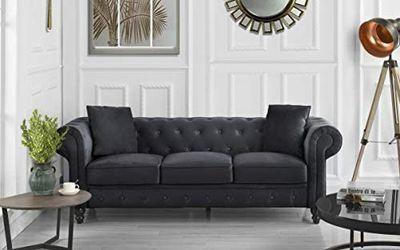 *Brand New* Divano Roma Classic Sofa, Black (2 Available!) for Sale in Dublin,  OH