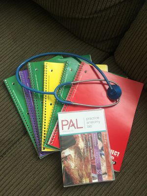 Brand New Never Opened !! PAL Version 2.0 - Practice Anatomy Lab; Nursing Health Science + 6 College Ruled Notebook & Stethoscope for Sale in Fresno, CA