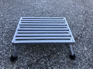 RV Step, aluminum with non-skid surface and 4 adjustable heights for Sale in Mukilteo, WA