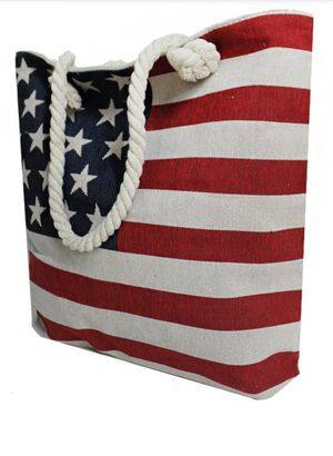 ALL NATURAL AMERICAN FLAG CANVAS TOTE for Sale in Oregon City, OR