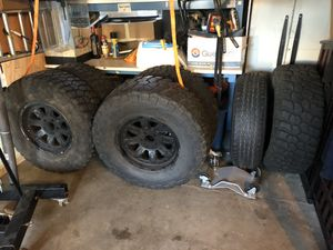 5 Jeep Jk wheels and BFG KM2s for Sale in Renton, WA