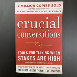 Crucial Conversations - Tools For Talking When Stakes Are High for Sale in San Jose,  CA