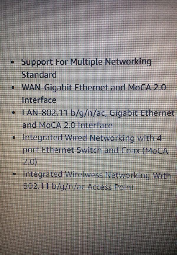 Verizon Fios Gateway AC1750 Wi-Fi Router Modem