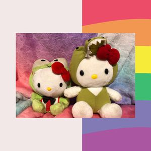 Hello Kitty Frog and Alligator plush plushie stuffed animal doll lot toy sale! Free gift with purchase for Sale in Phoenix, AZ