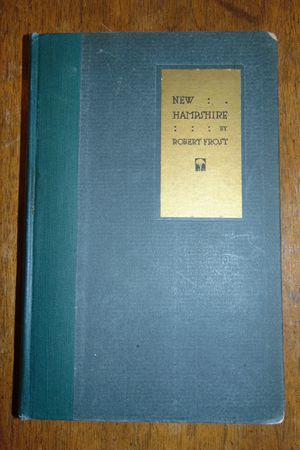 Robert Frost Signed New Hampshire Poetry Book 1923 First Print Edition for Sale in Overgaard, AZ