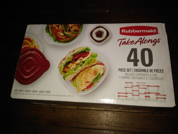 Rubbermaid TakeAlongs Food Storage Container, 40-Piece Set, *Brand New Unopened*