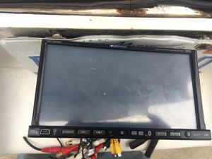 Tv radio 75 or best off look it up face don't come down to play cds everything else work Bluetooth iPad a UX for Sale in Detroit, MI