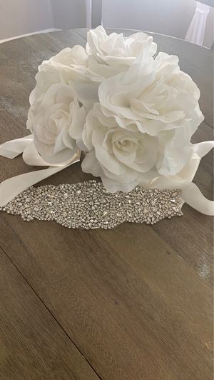 Ivory Bridal Sash for Sale in Bakersfield, CA