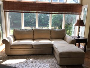Pottery Barn Pearce sectional couch with chaise for Sale in Wheaton, IL