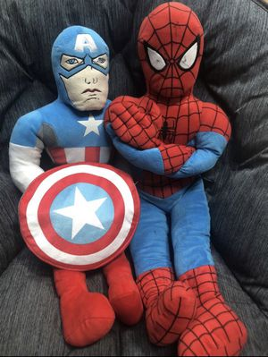 Spider-Man and Captain America Plushes for Sale in Oak Brook, IL