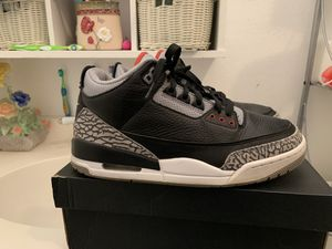 Air Jordan black cement 3s size 9.5 for Sale in Houston, TX