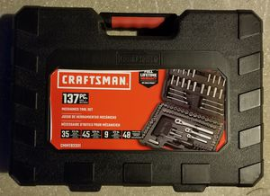 CRAFTSMAN 137-Piece Standard (SAE) & Metric Polished Chrome Mechanic's Tool Set for Sale in Fort Myers, FL