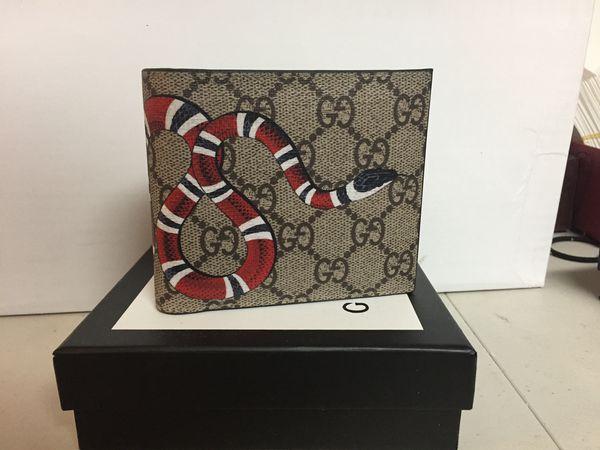 Gucci brown monogram men's snake wallet