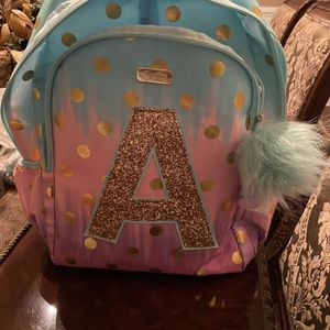 Girls Letter A Backpack And Matching Pencil Case for Sale in St. Charles, IL