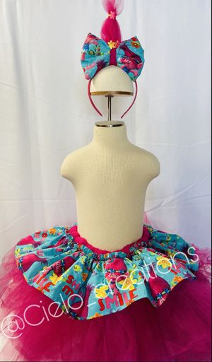 Trolls tutu and head band for Sale in Los Angeles, CA