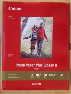 20 Sheets of Canon Glossy Photo Paper 8.5x11 for Sale in Hyattsville, MD