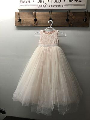 Wedding Flower Girl Dress - Size 5 - Blush color for Sale in Plantation, FL