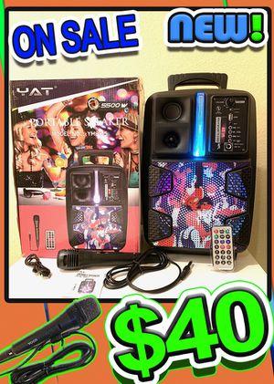 Karaoke 🎤 wireless bluetooth speaker 🔊 portable for Sale in Las Vegas, NV