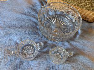 Crystal Bowl Set Vintage for Sale in San Diego, CA
