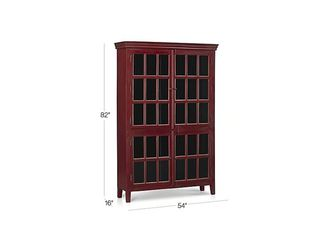 Red Tall Crate & Barrel Cabinet for Sale in Tampa,  FL
