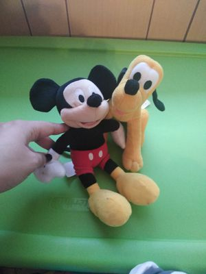 Mickey mouse and Pluto plushies for Sale in Grand Prairie, TX