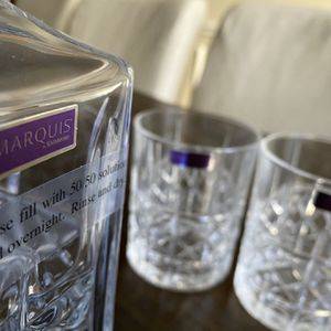 Marquis Crystal Scotch Glasses And Bottle for Sale in Frisco, TX