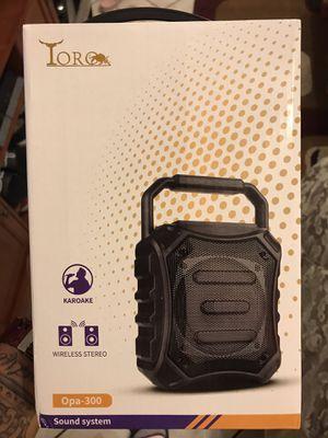 Toro Bluetooth stereo system speaker for Sale in Phoenix, AZ