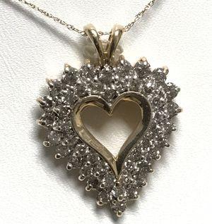 Preciosos pendientes en oro italiano 14k y 10k con diamantes / Perfect Gift for Mother's day for Sale in Adelphi, MD