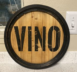 Wood Decor Sign Vino for Sale in Federal Way, WA