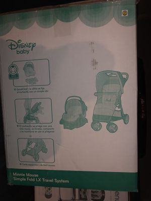 Disney Baby Simple Fold LX Travel System Minnie Meadow for Sale in Huntington Beach, CA