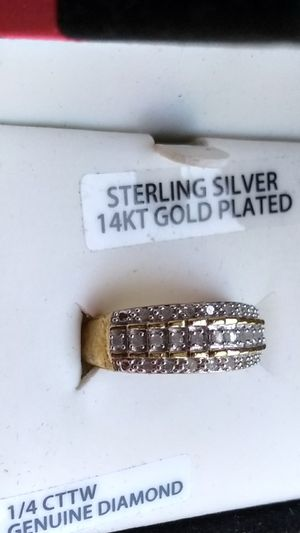 Diamond Ring on gold band for Sale in Allen Park, MI