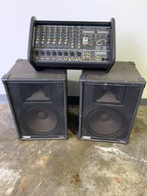 Yorkville M1610 PA with Two Crate Speakers for Sale in Bethlehem, PA