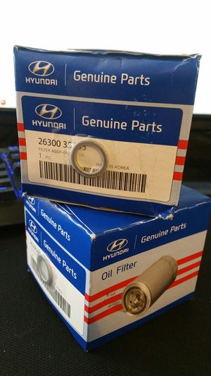 2 new OEM KIA oil filters for Sale in Shoemakersville, PA