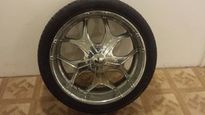 """24"""" chrome rims w/tires for Sale in Pittsburgh, PA"""