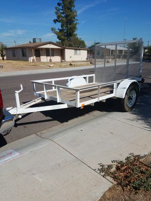 5 by 8 enclosed cargo trailer utility trailer Kohl's great 3500 gross weight good tires $1,000 firm for Sale in Phoenix, AZ