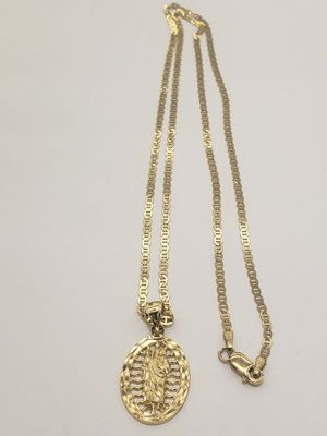 """10k Yellow real gold 20"""" inches chain and 10k real gold saint Jude charm for Sale in Los Angeles, CA"""