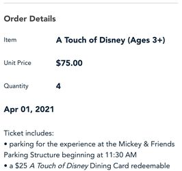 Touch Of Disney Tickets for Sale in Perris,  CA