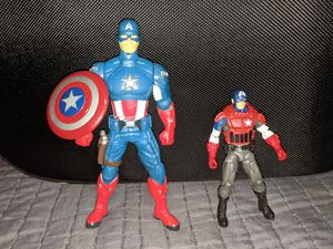 Avengers Captain America Action Figures Lot Marvel Punching Action for Sale in Beaverton, OR