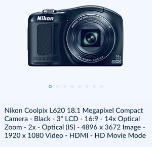 NIKON®️ COOLPIX®️ L620 Camera (Digital AND Video) for Sale in Wilmington, NC