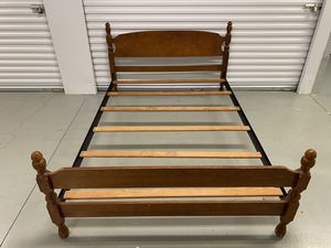 Solid Wood Full Size Bed Frame w/ Center Supports for Sale in NORTH WALES, PA