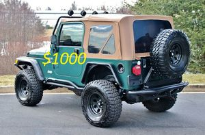 *2000🍀Jeep Wrangler TJ Lifted🍀Loaded 4.0L No Issues-$1000 for Sale in Arlington, VA